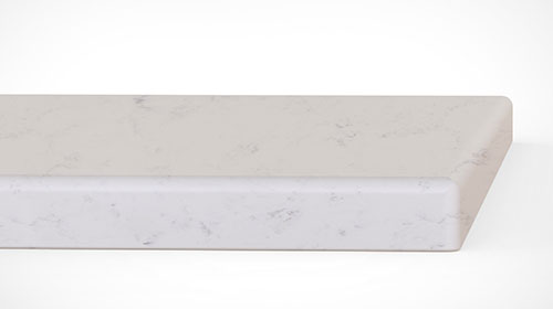 quartz countertops quarter rounded edge